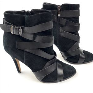 Sam Edelman Vanna Black Suede Booties
